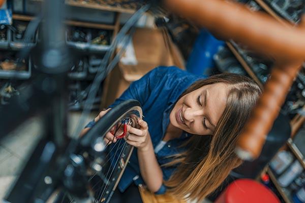 cykel i verkstaden