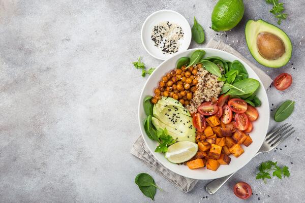 nyttig lunch med grönsaker