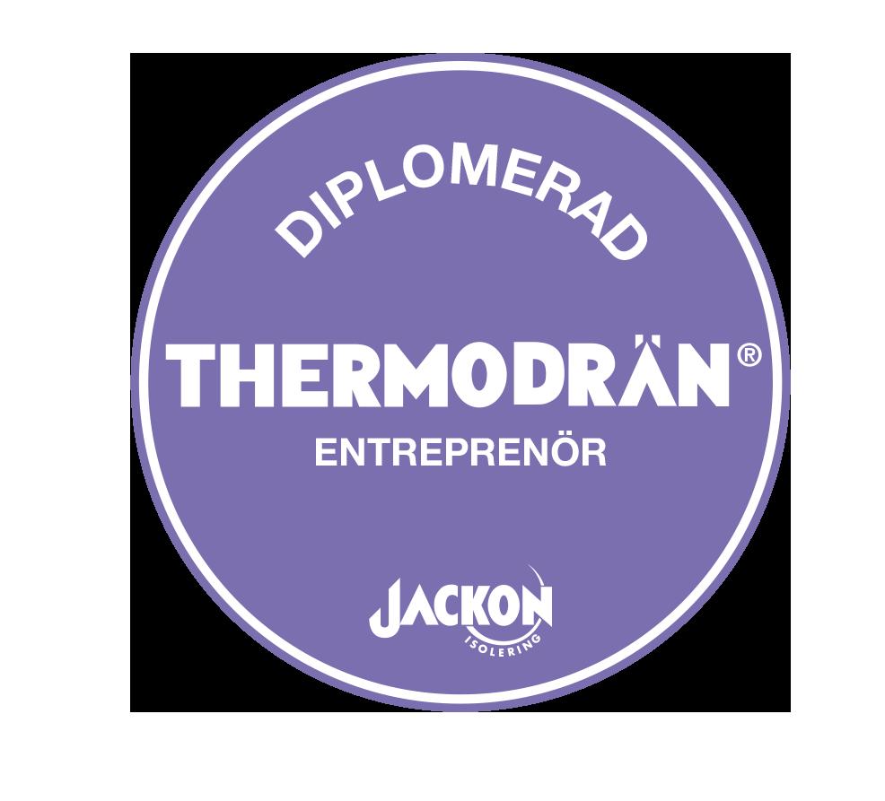 Vi är certifierade av dränering i Jönköping av märket Thermodrän.