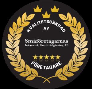 Kvalitetssäkrad av Småföretagarnas Inkasso & Kreditrådgivning AB.