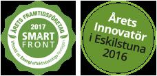 Årets innovatör 2016 och Årets Framtidsföretag 2017.