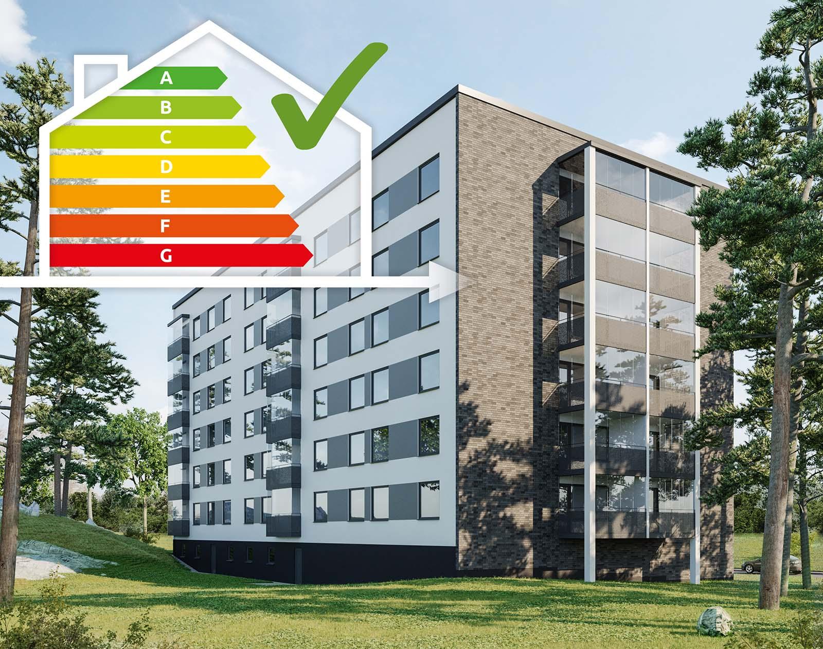 Brf Fogdetorp valde energieffektivisering med SmartFront-metoden.