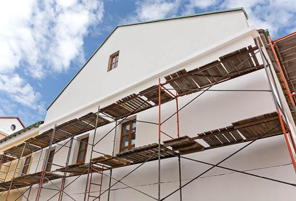 nyrenoverad fasad