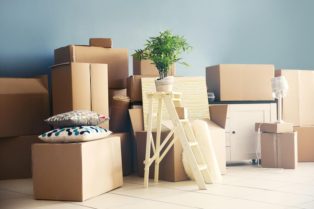 packat inför flytt