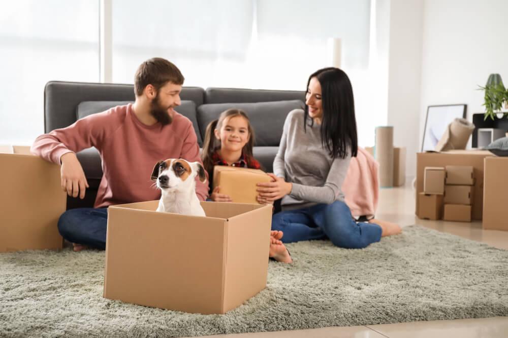 familj ska flytta