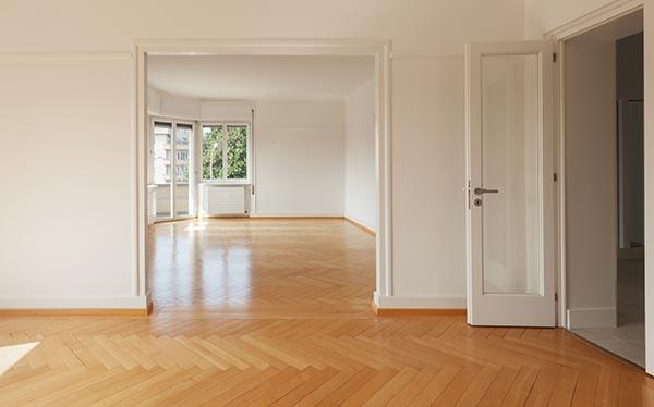 Tom nystädad lägenhet