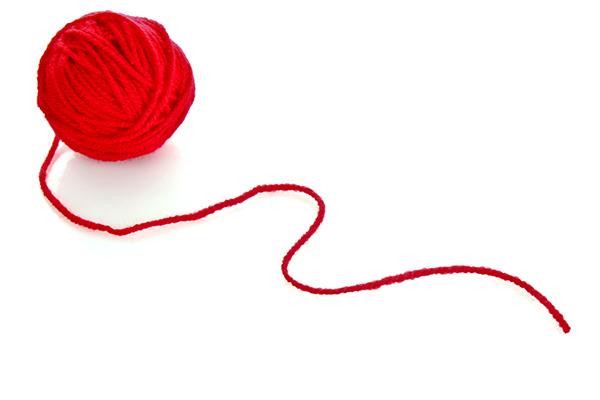 röd tråd nystan