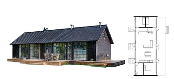 Fritidshus Glass house classic