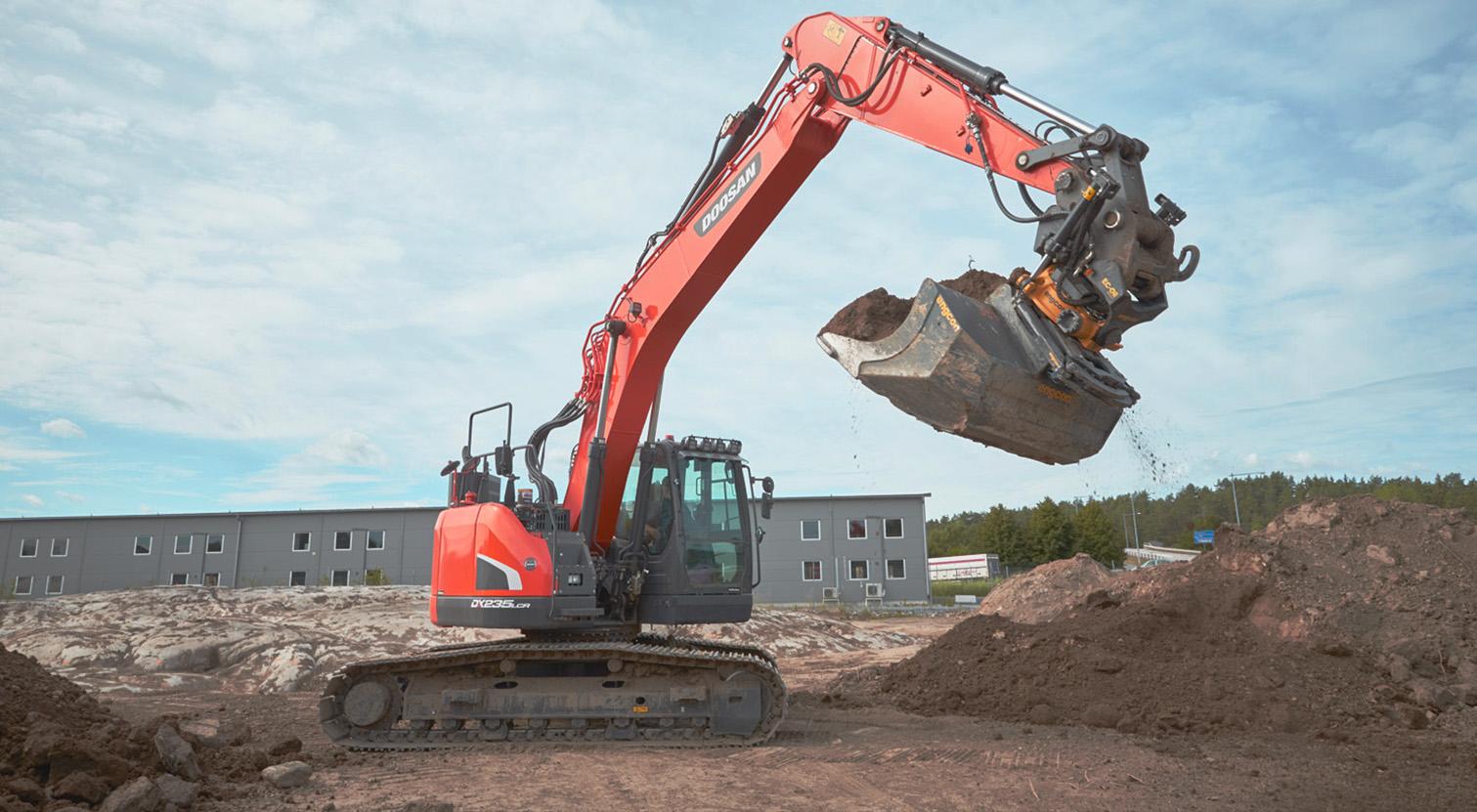 En sådan grävmaskin i Stockholm hyr vi ut