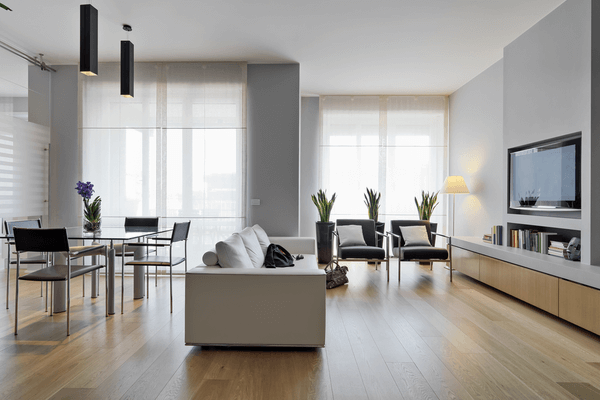 Fin modern vardagsrum