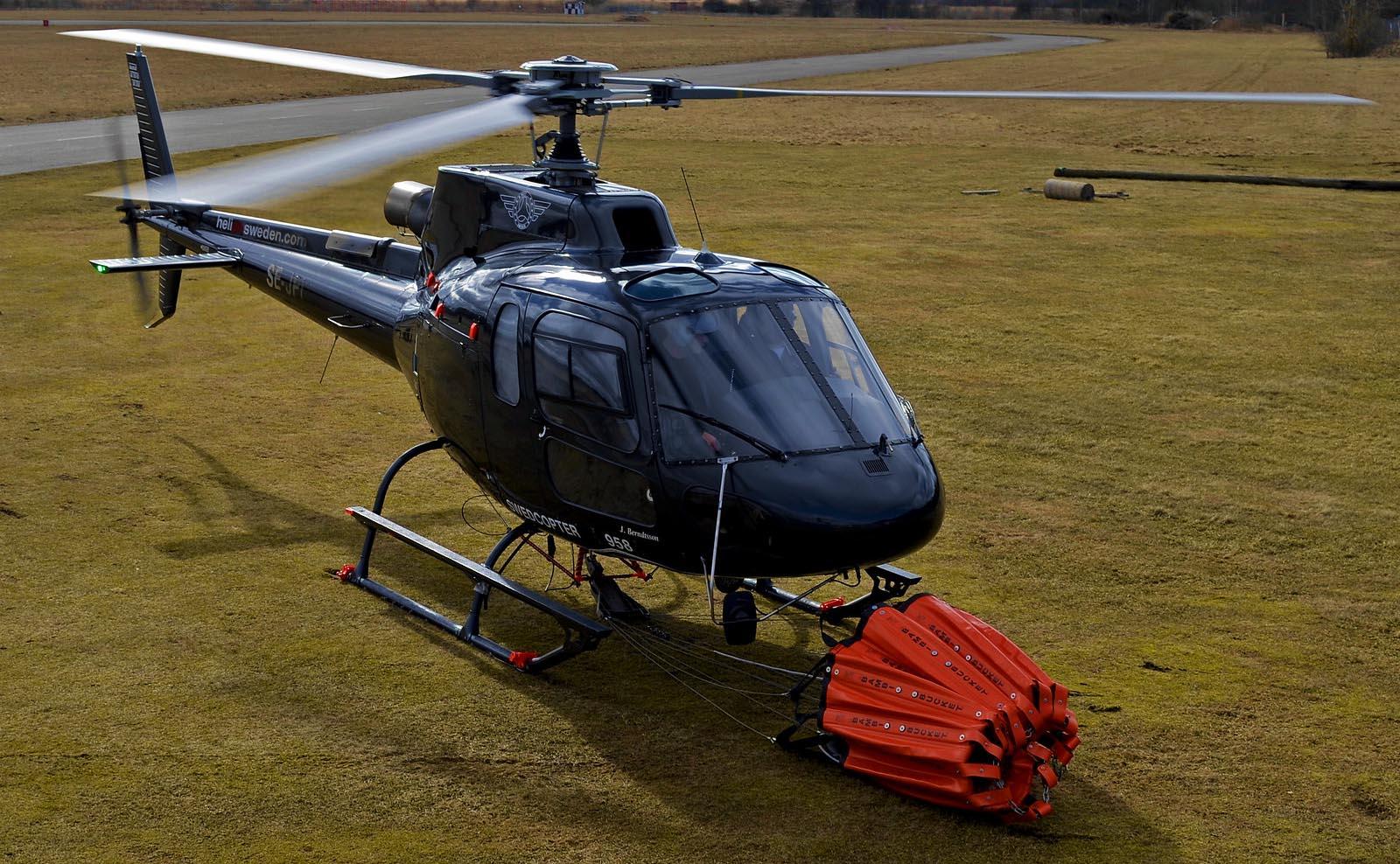 Vår helikopter i Stockholm