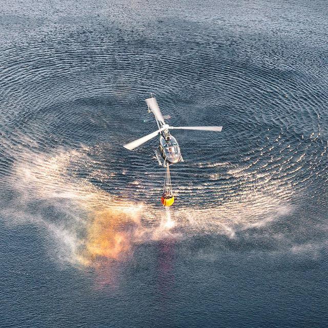 Vi har helikopter i Stockholm