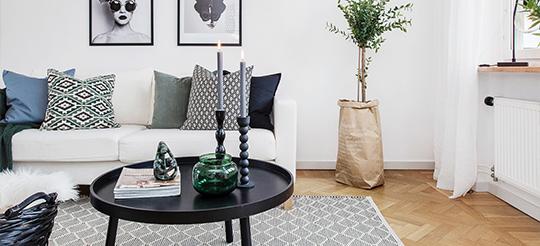 exempel på homestyling i Stockholm