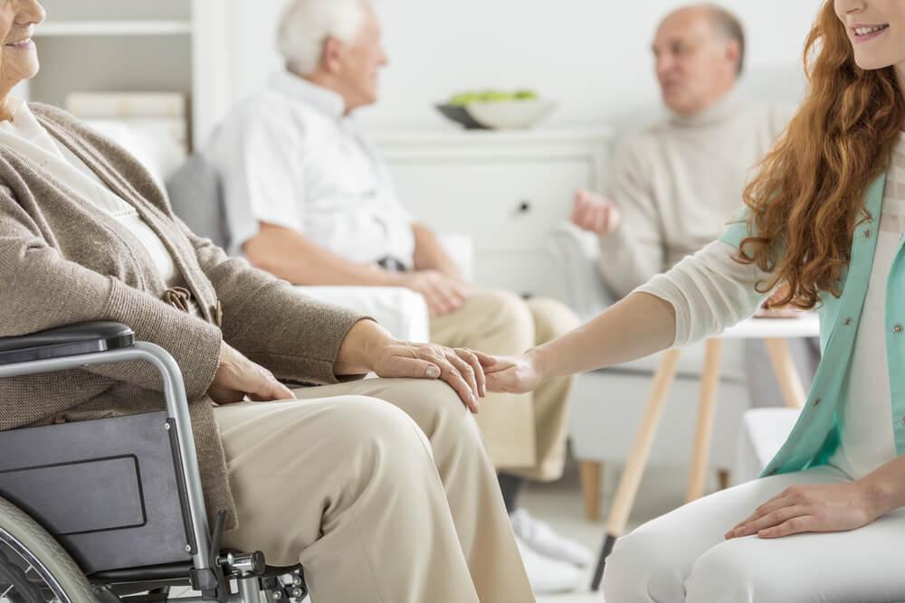 personer på äldredomshem