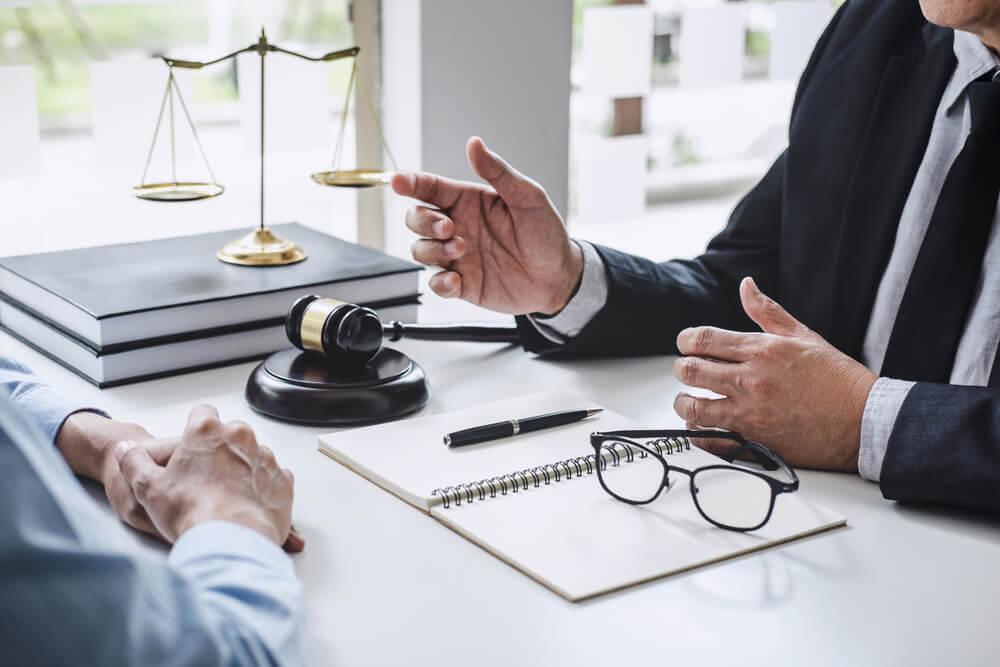 jurist med klient