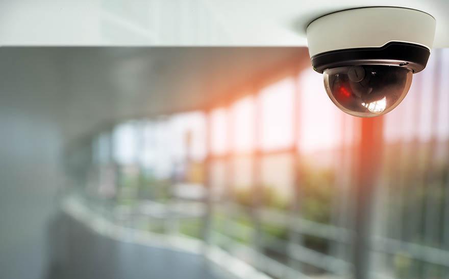 Kameraövervakning inomhus.