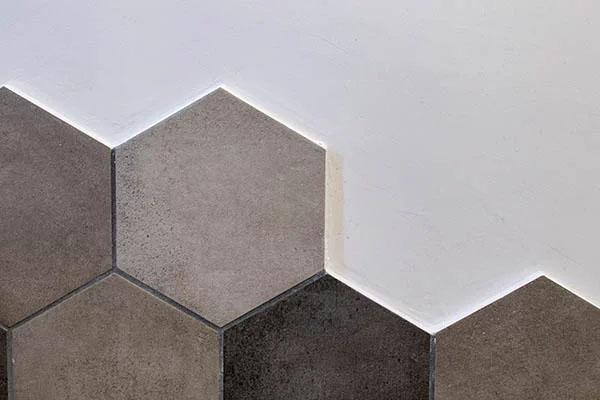 hexagoner plattsättmimg i Östersund