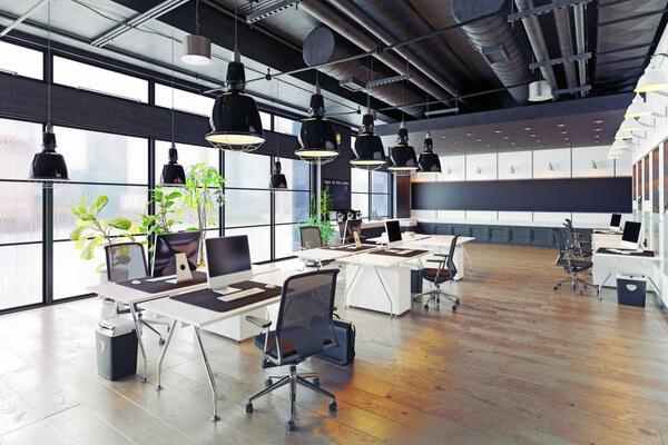 Ren modern kontor