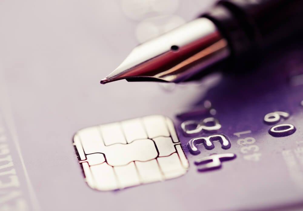 betalkort och penna