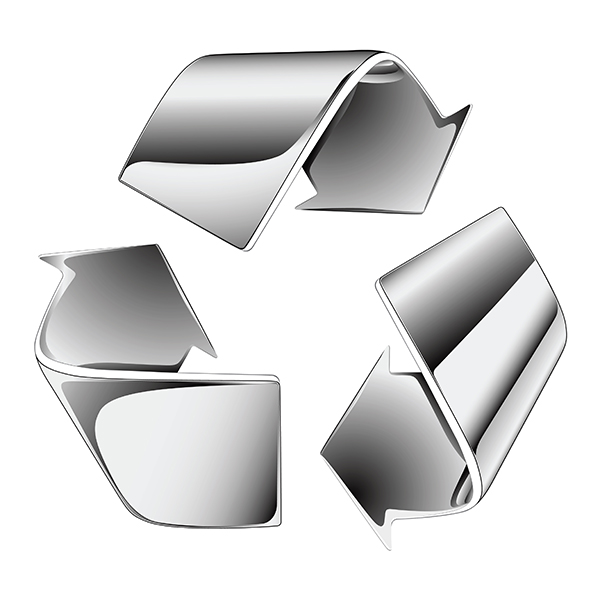 åtevinningssymbol metallskrot
