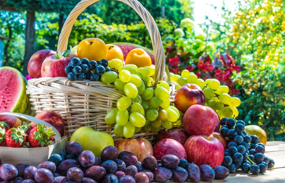 Få fruktkorg till jobbet