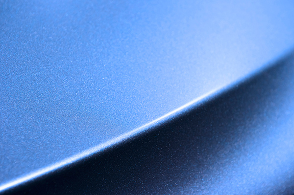lackförseglad bil blå