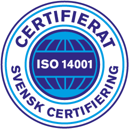 Vår låssmed i Stockholm har också certifiering enligt ISO 1400.