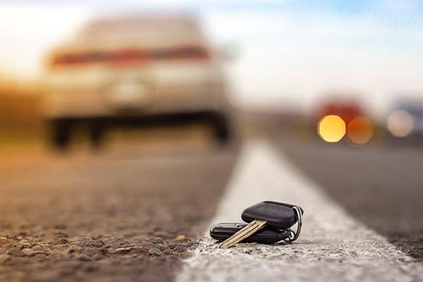 tappade bilnycklar