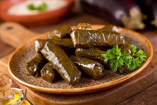 libanesiska vinbladsdolmar