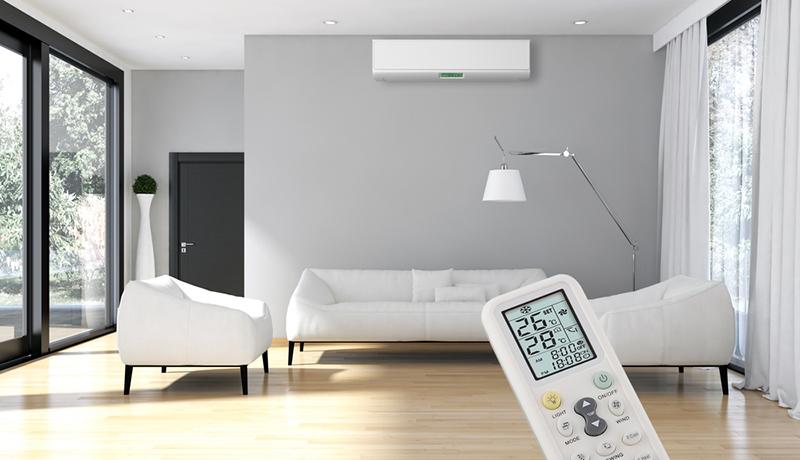 Luftkonditionering i vardagsrum