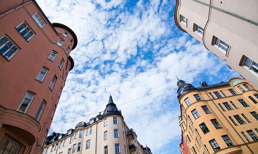 Typiska hus i Vasastan.