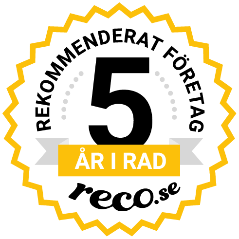 rekommenderat måleriföretag Reco i fem år
