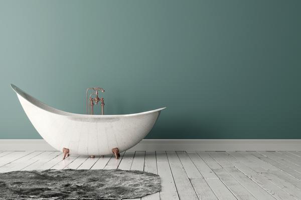 Måla badrum - bild på badrum med målade väggar