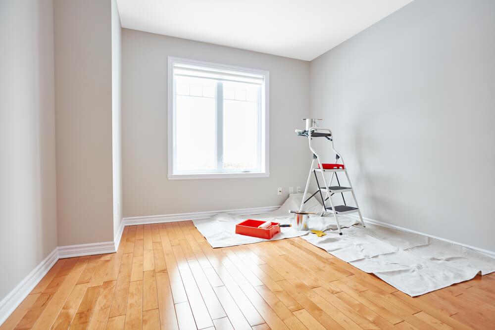 nymålat rum