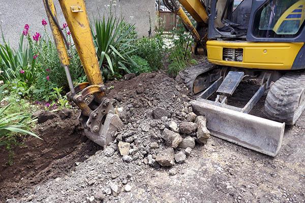 hyra grävmaskin dalarna