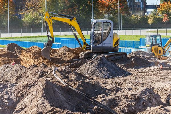 Grävare som gräver