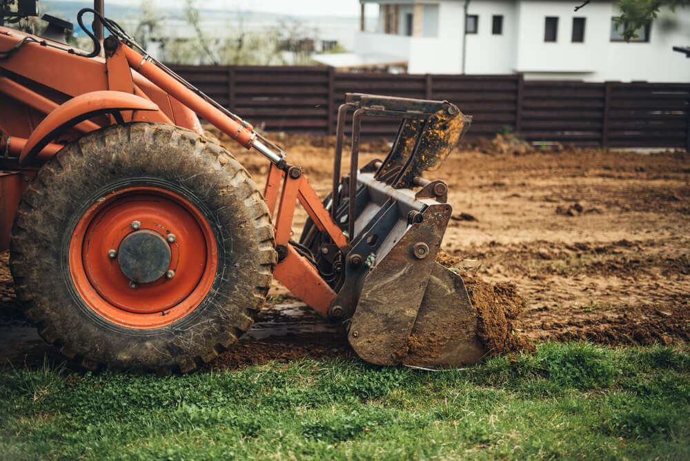 gräva upp tomten