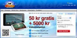 Registrering av Casino Konto