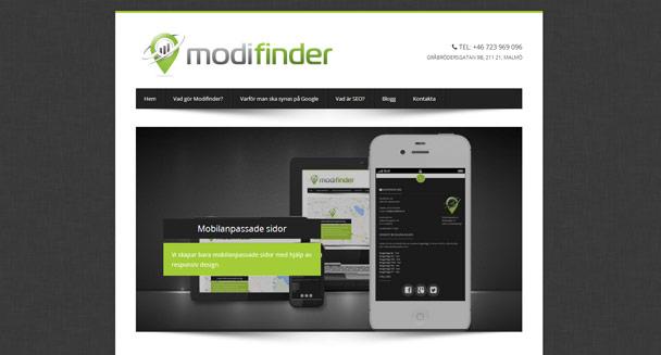 Modifinders nya hemsida