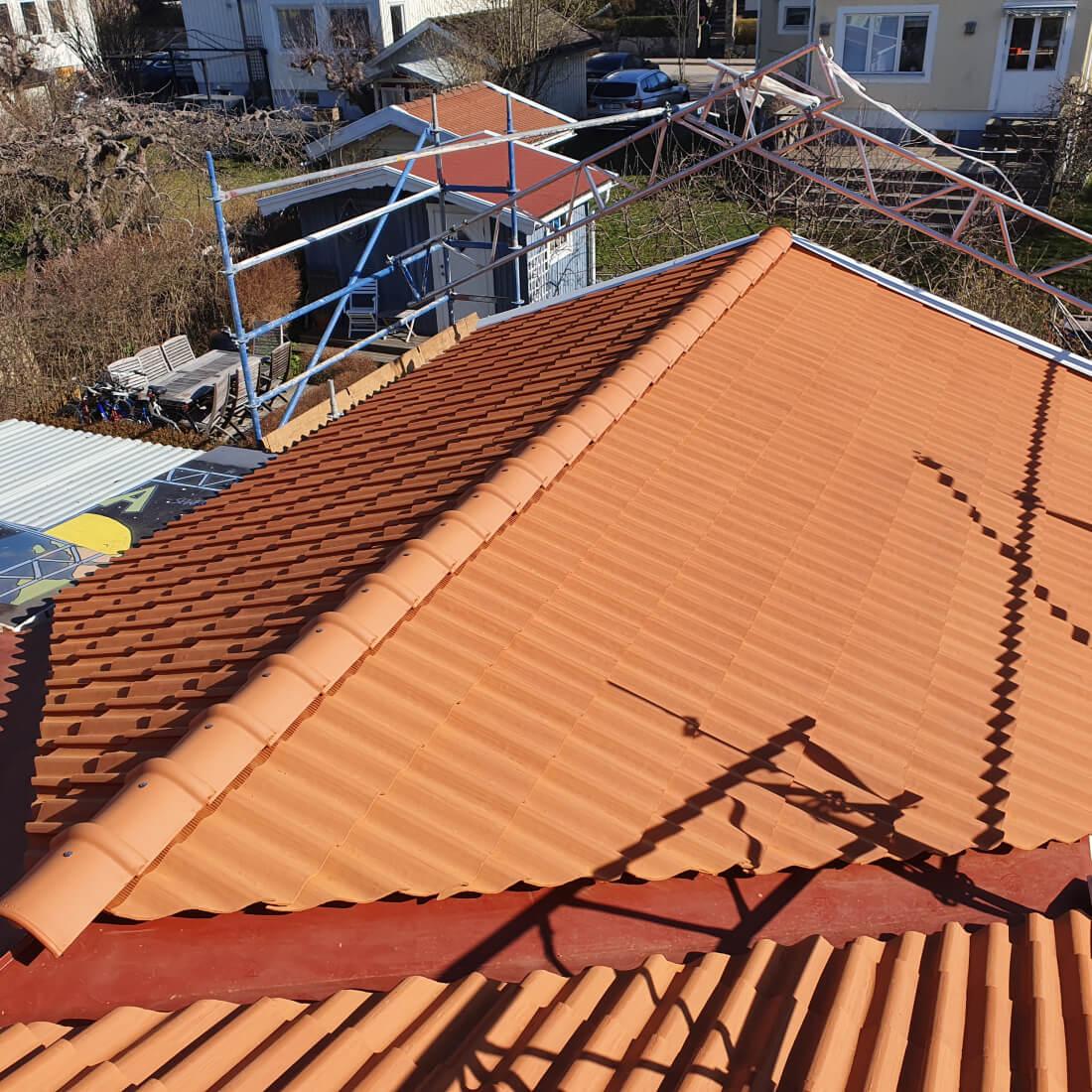 renoverat tak i Beckomberga
