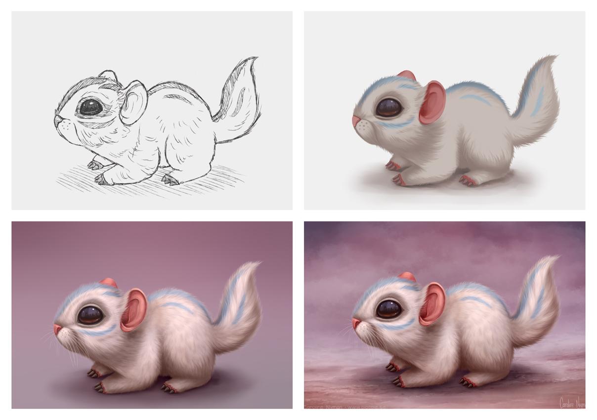 Chinchompa progress by Caroline Nyman