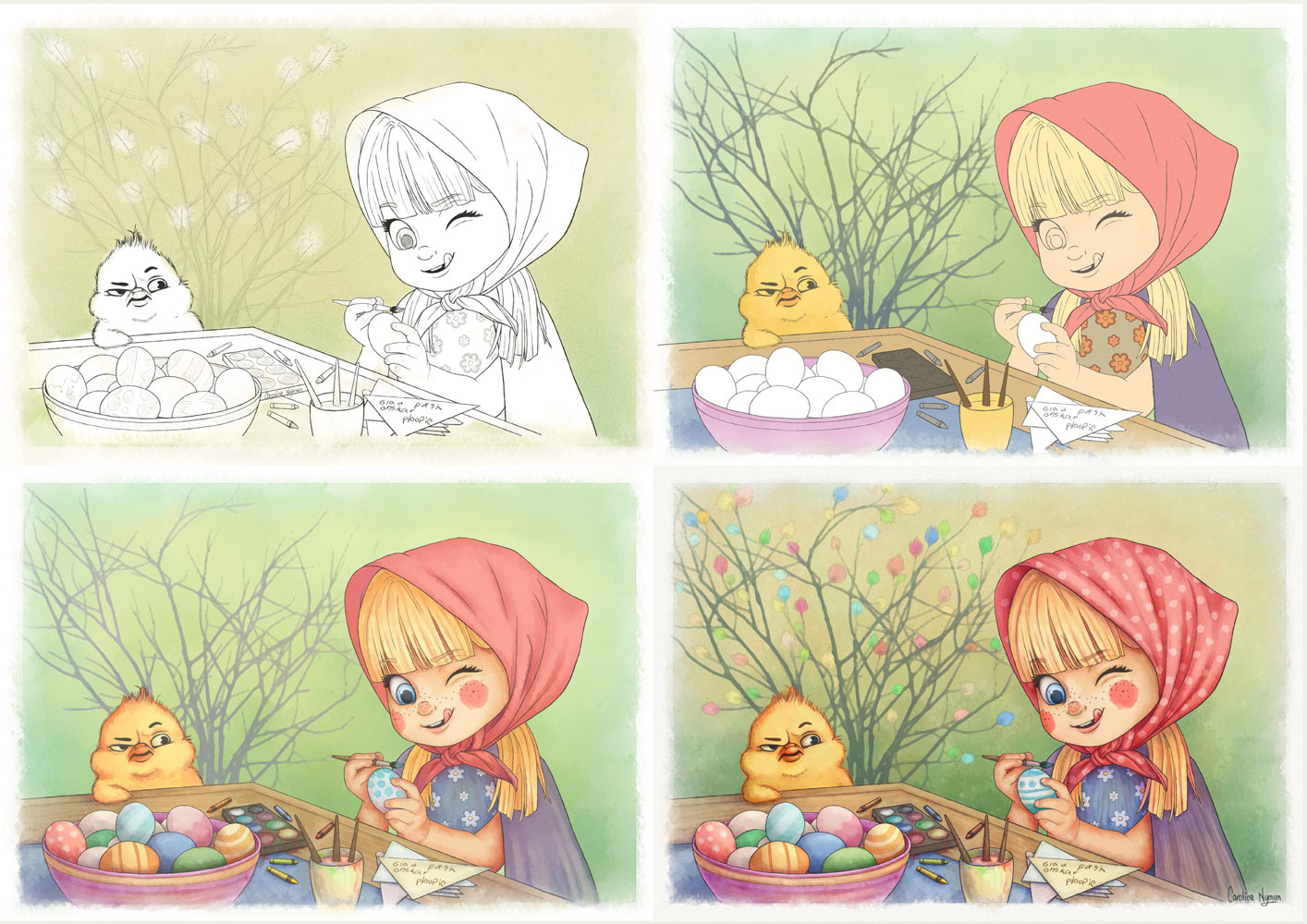 Easter Fun process