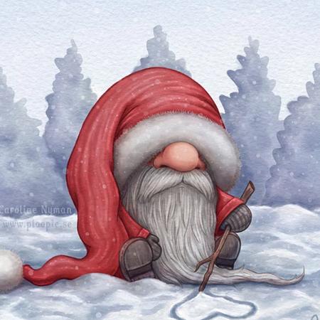 Lonely Santa by Caroline Nyman