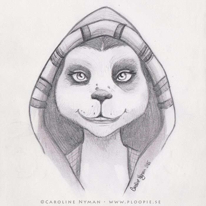 Pandaren drawing