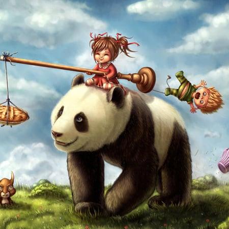 Panda Ride by Caroline Nyman