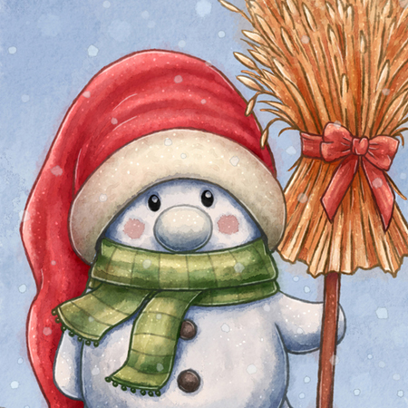 A little snowman by Caroline Nyman