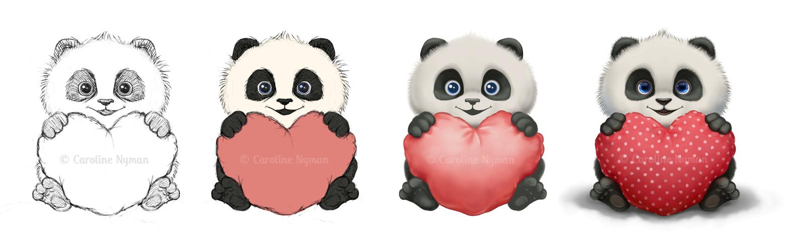 Baby Valentine Panda