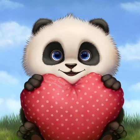 Valentine Panda by Caroline Nyman