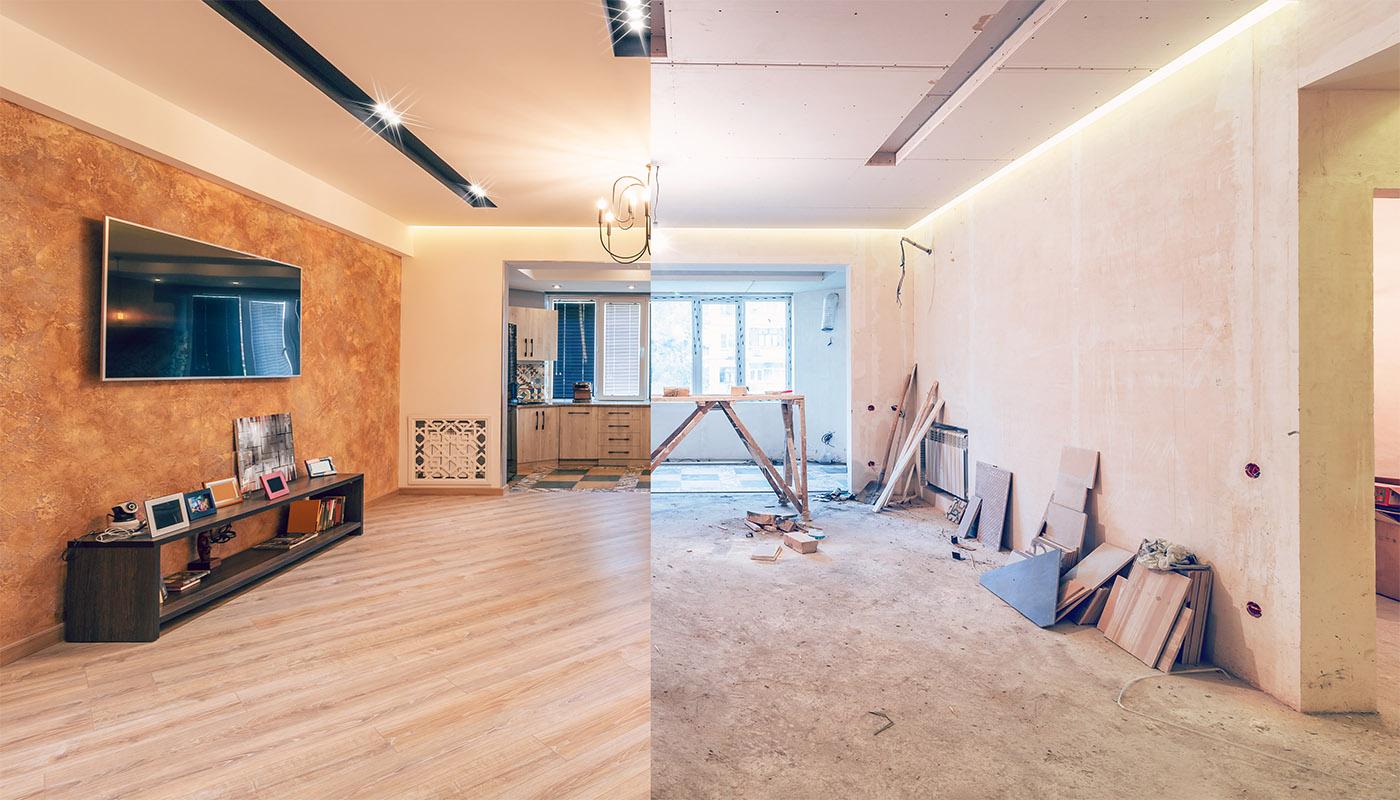 Renovering av vardagsrum