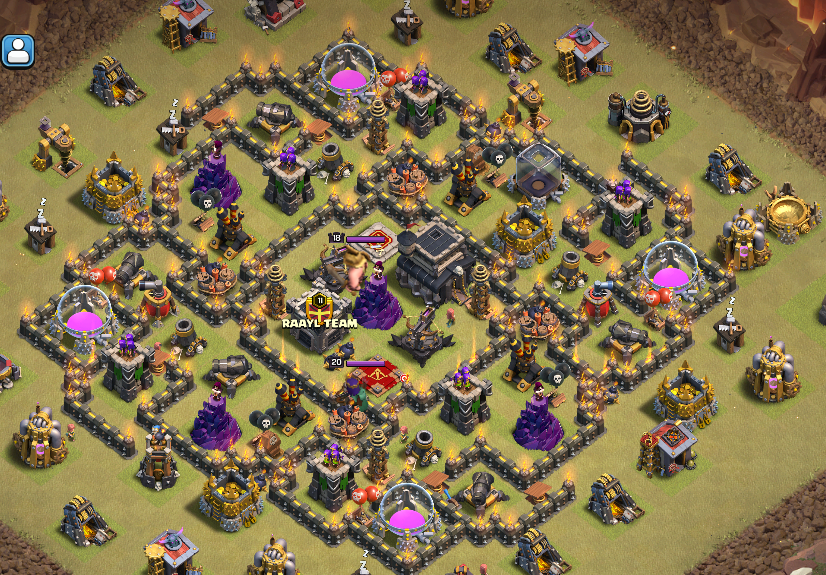 Best Th9 War Base Layout 8